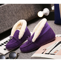 35-40 Thicken Driving Working Flats Autumn Winter Sewing Warm Plush Women Loafers Faux Suede Slip On Flat Pea Pea Woman Shoes