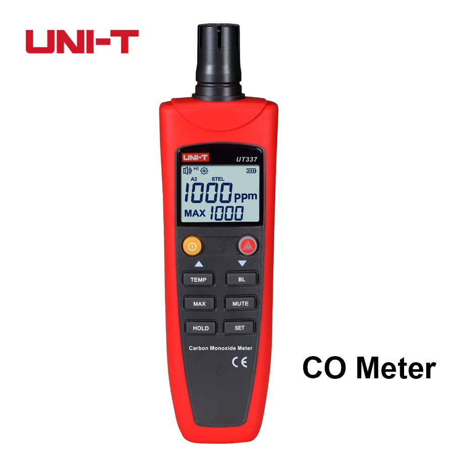 UNI-T high accuracy CO detector meter tester carbon monoxide detector monitor CO home gas alarm Analyzer household UT337A