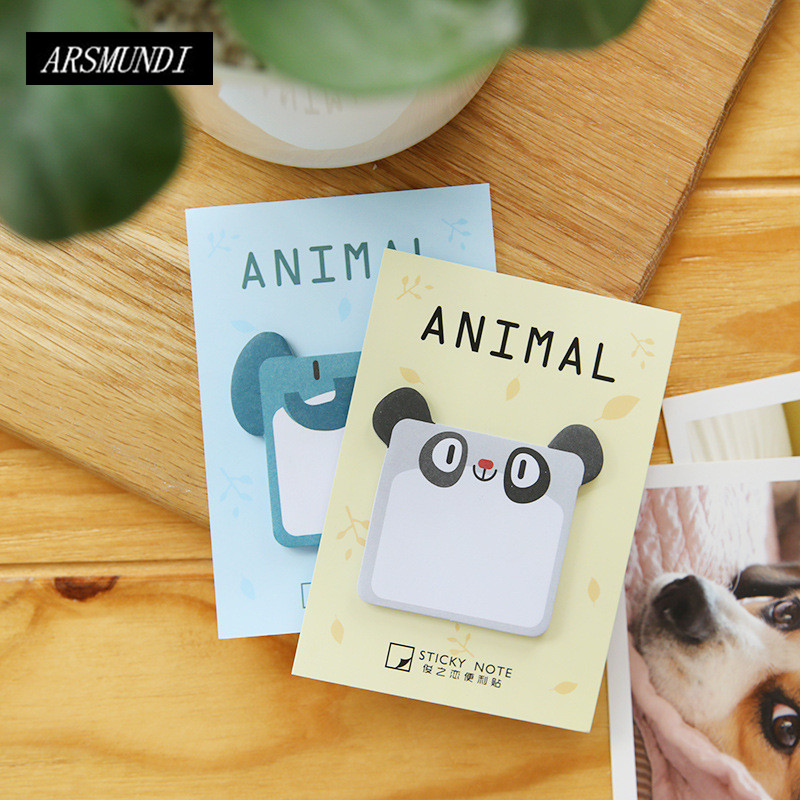 Cute Cartoon Animals Post it Planner Stickers Scrapbooking Kawaii Sticky Notes Memo Pad Notepad For Office Stationery Papeleria 16pcs kawaii stationery notepads cat sticky notes folhas de papel post nota de memo pad sticky notes papeleria office decorat