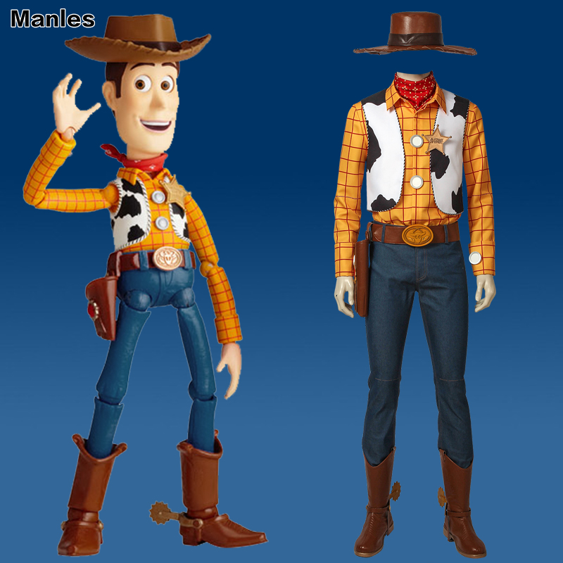 Toy Story Cosplay Woody Costume Cowboy Suit Hat Carnival Outfit Adult Men Halloween Party Custom Made Superhero With Boots