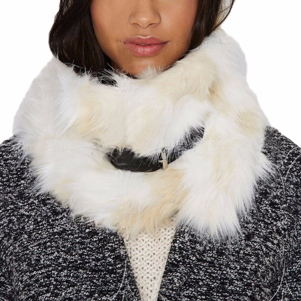 Winter Faux Fur Collar Around The Neck Female Scarf Shawl Collar Women's Scarf Stitching Leather Deduction Regulation