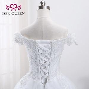 Image 5 - רקמה ואגלי תחרה כדור שמלת ערבית שמלות Vestidos דה Novia 2020 שווי שרוולי כלה שמלת חתונת שמלות WX0002