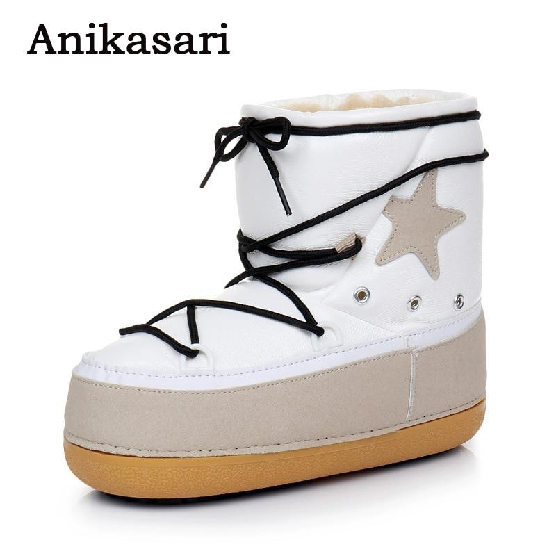 Ženske gleženj čevlji Rusija obdržati tople snežne čevlje Star - Ženski čevlji