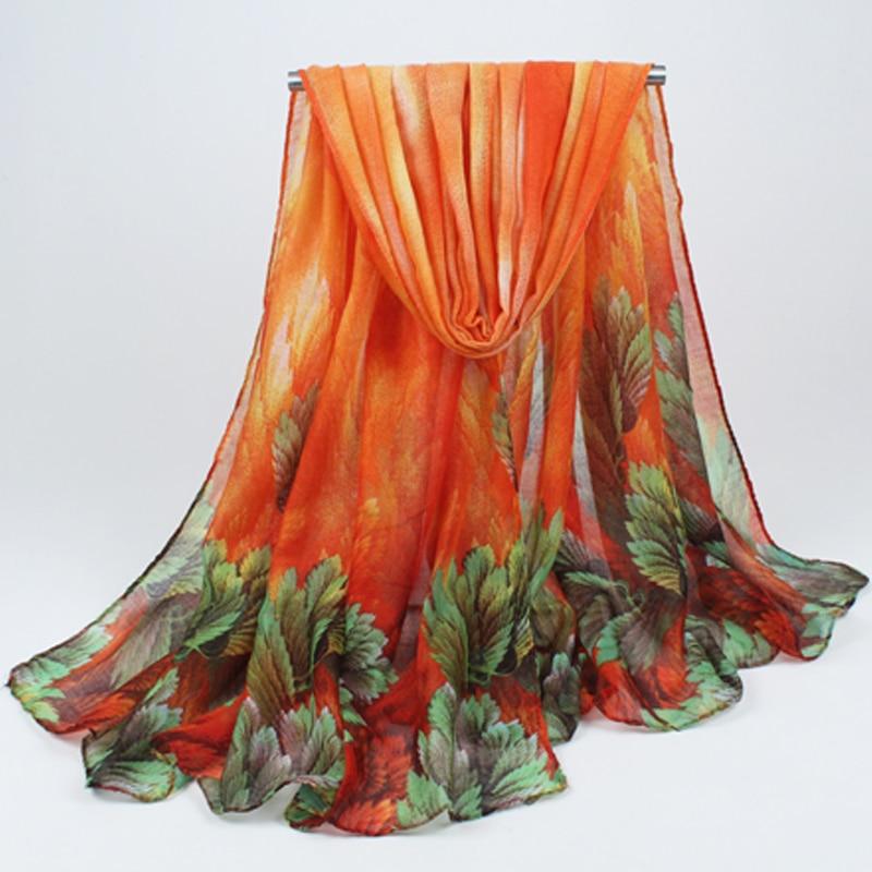 2019 kvinner vår og høst forlater bomull sjal skjerf sjal solsikker bøhmisk voile skjerf engros drop shipping hijab