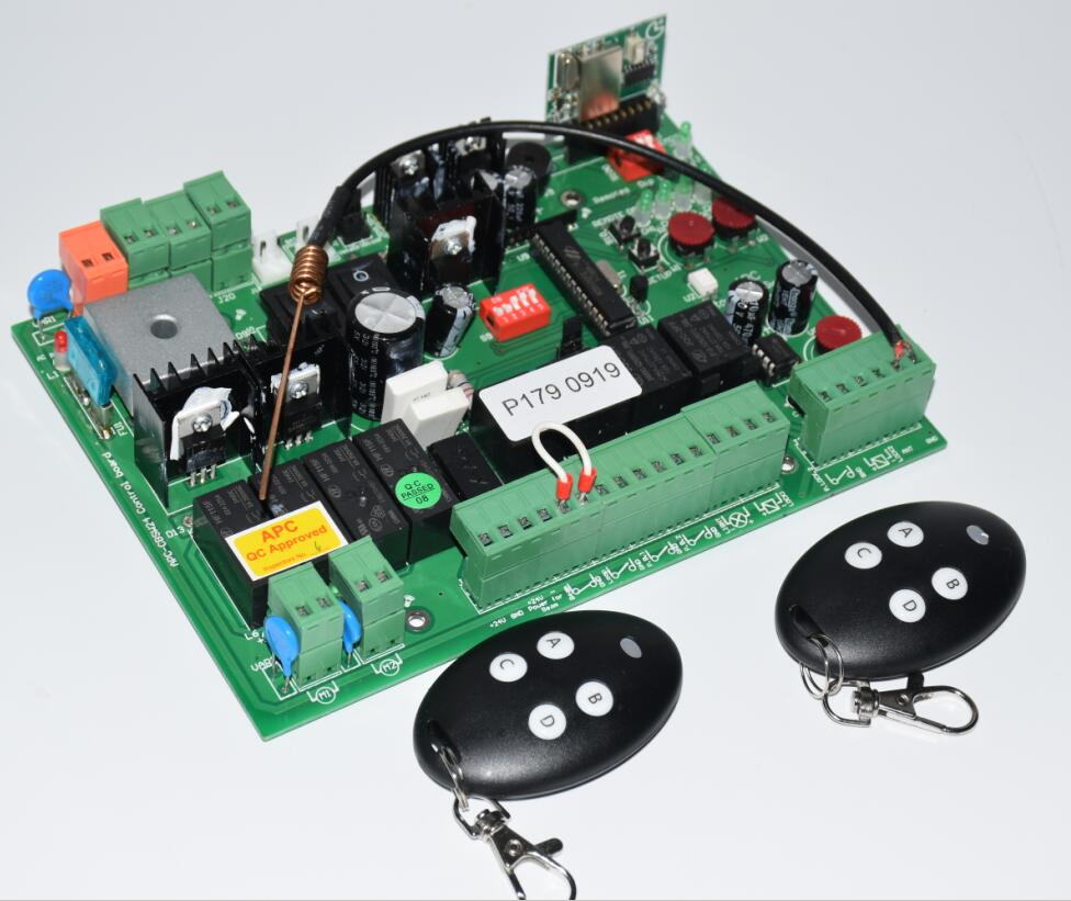 24VDC Automatic Double Arms Swing Gate Opener Control Panel PCB Circuit Board Motor Card Motherboard Controller