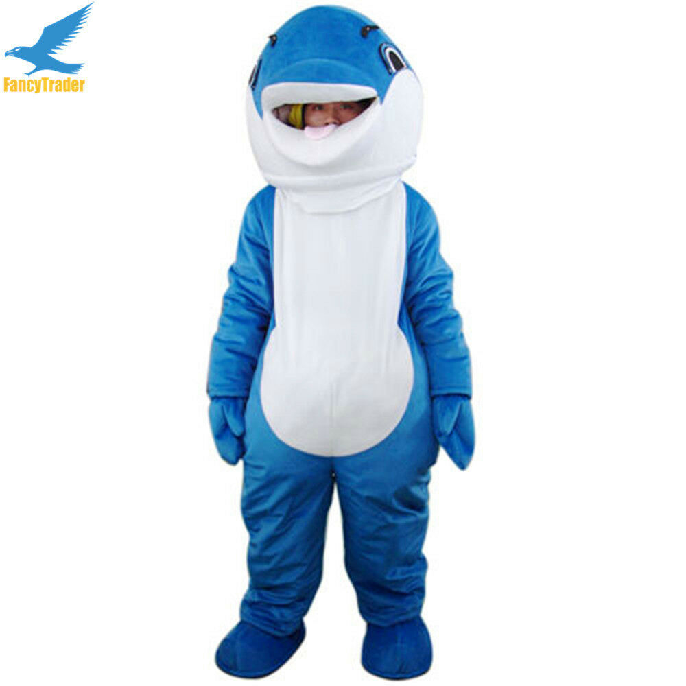 Dauphin Animal mascotte Costume Cosplay fantaisie robe adulte taille costumes EPE tête
