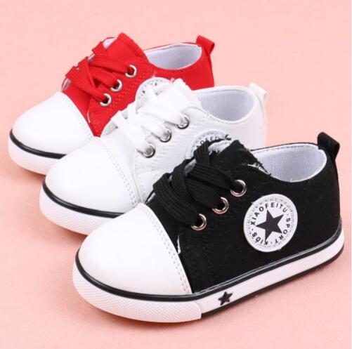 Kids Boys Shoes Red Girls Sneakers Flat