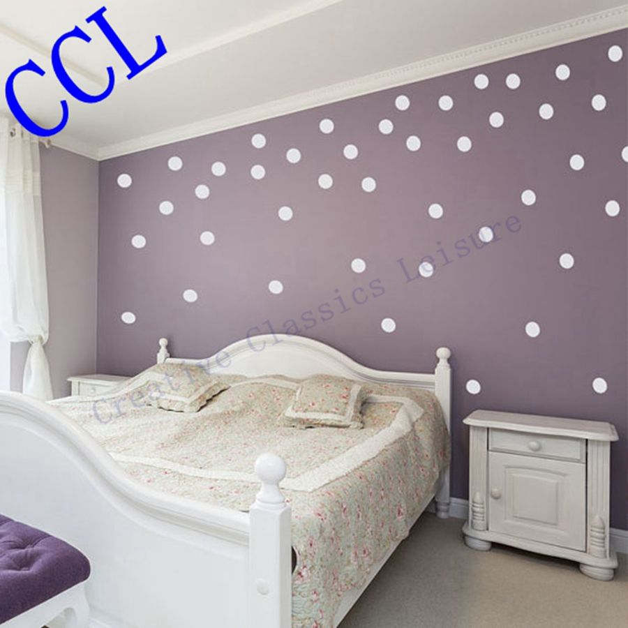 Free Shipping Polka Dot Wall Stickers Home Decor Polka Dot Art Wall
