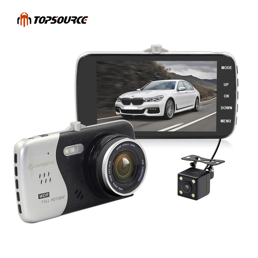 TOPSOURCE 4 Original IPS Screen Car DVR Novatek NTK96658 Car font b Camera b font T818