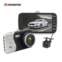 TOPSOURCE 4 Original IPS Screen Car DVR Novatek NTK96658 Car Camera T810 Dash Camera Full HD