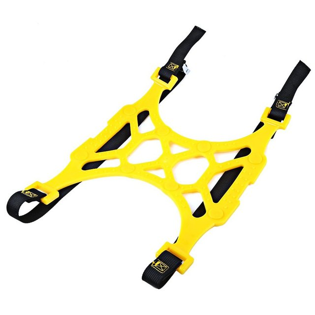 Car Snow Tire Double Buckles Adjustable Universal Anti-skid Chains Thickened Beef Tendon Wheel Chain for Snow Mud Road Yellow