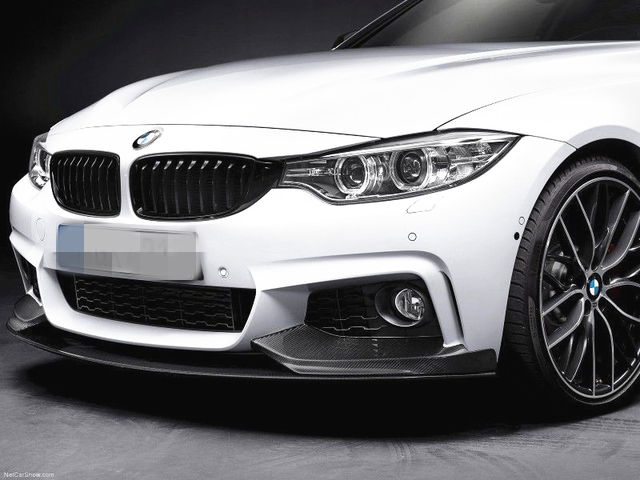 f543bddce80 2014+ F32 F33 4 SERIES Front Lip  M Performance Style Carbon Fiber Front  Splitter