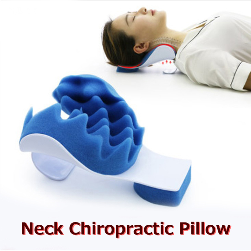 neck support pillow relaxer shoulder chiropractic pillow traction stretcher device cervical spine therapeutic spine alignment