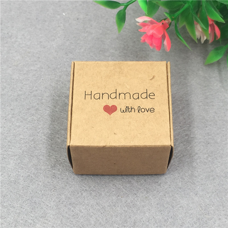 Image 5 - 50pcs/lot 4x4x2.5cm Small Kraft Cardboard Packing Gift box MiNi Lovely Aircaft Paper Box Handmade soap Packing Box-in Gift Bags & Wrapping Supplies from Home & Garden