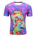 Simpson 2017 curta-mangas compridas T-shirt dos homens 3D impressão digital de T-shirt moda Casual dos desenhos animados engraçado T camisas da cor