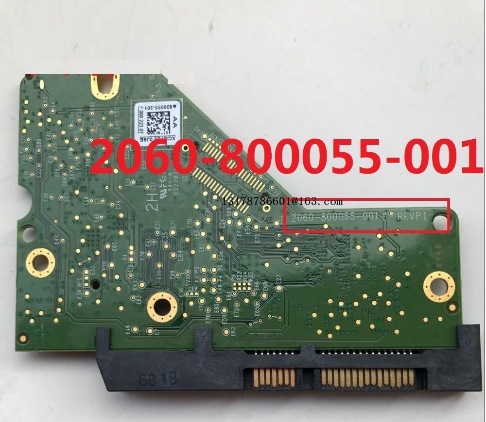 800055 PCB Circuit Board 2060-800055-002 001 000 REV A/P1 For WD 3.5 SATA Hard Drive Repair Data Recovery 2060-800055-001