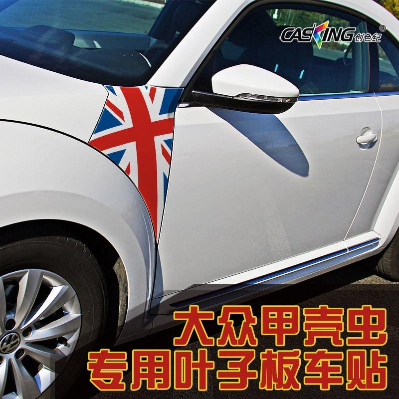 2 pièces pour Volkswagen new beetle corps autocollant beetle modifié fender autocollant de voiture décoration de voiture tirez fleur
