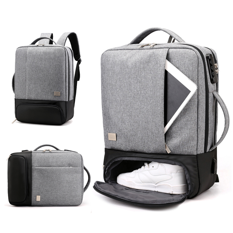 Anti Theft Backpack Women Men Laptop Bagpack 15.6 USB Charger Male Notebook Back Pack Travel School Bag Mochila Black Men's Bags-in Backpacks from Luggage & Bags