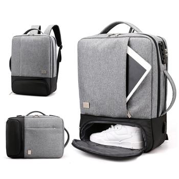 Anti Theft Backpack Women Men Laptop Bagpack 15.6 USB Charger Male Notebook Back Pack Travel School Bag Mochila Black Men's Bags
