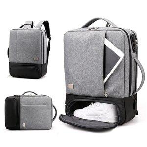 Image 1 - Chống Trộm Ba Lô Nữ Nam Laptop Bagpack 15.6 USB Sạc Nam Xách Tay Lưng Du Lịch Học Mochila Nam Màu Đen của Túi