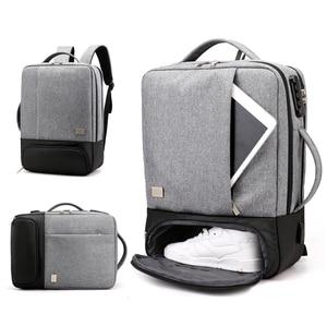 Image 1 - Sac à dos Anti vol pour femmes et hommes, chargeur USB pour ordinateur portable, cartable pour voyage, cartable noir, sacoche pour ordinateur portable 15.6