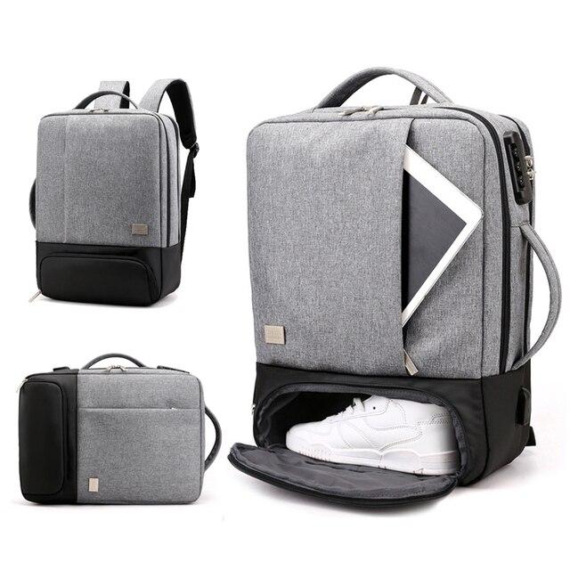 Sac à dos Anti vol pour femmes et hommes, chargeur USB pour ordinateur portable, cartable pour voyage, cartable noir, sacoche pour ordinateur portable 15.6