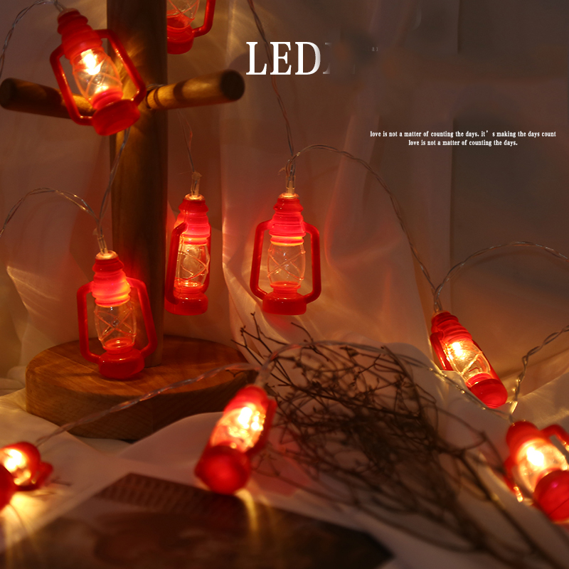 40pcs/sets Black Red Gray Water Oil String Lights Fairy Party Garland Patio Decoration Night Lamp