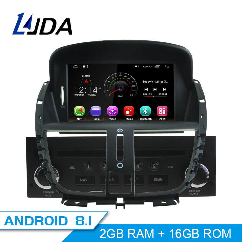 LJDA Android 8 1 1 Din Car Radio For Peugeot 207 2007 2011 2012 2013 2014