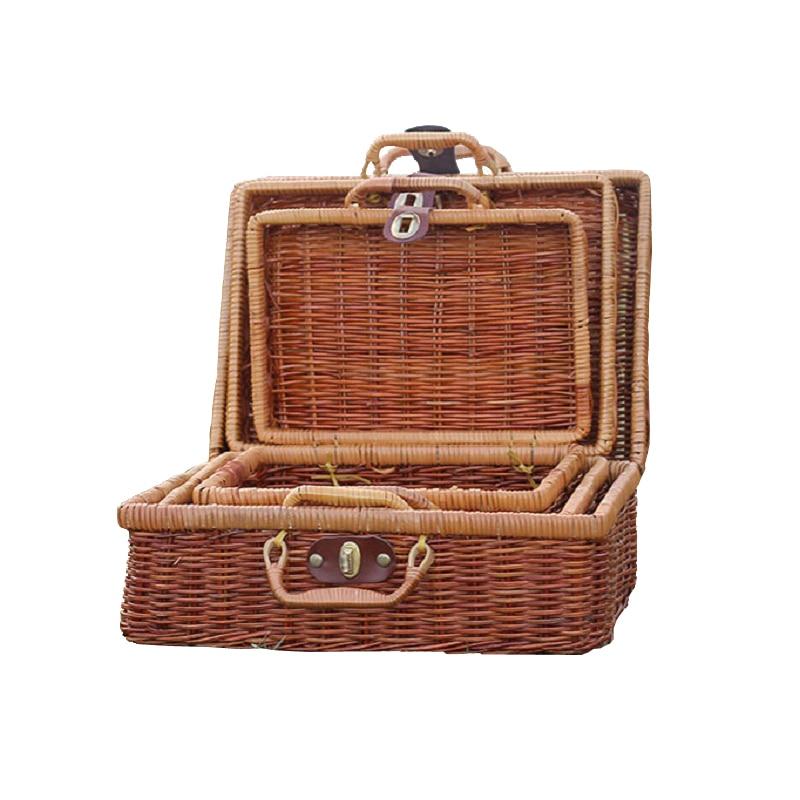 WCIC Handmade Bamboo Picnic Basket Mini Rattan Food Fruit Basket Cosmetic  Box For Outdoor Storage Baskets Travel Suitcase In Storage Baskets From  Home ...