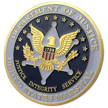 Маршал Соединенных Штатов/Золотая монета/сувенир/Монета на заказ/монета 1160