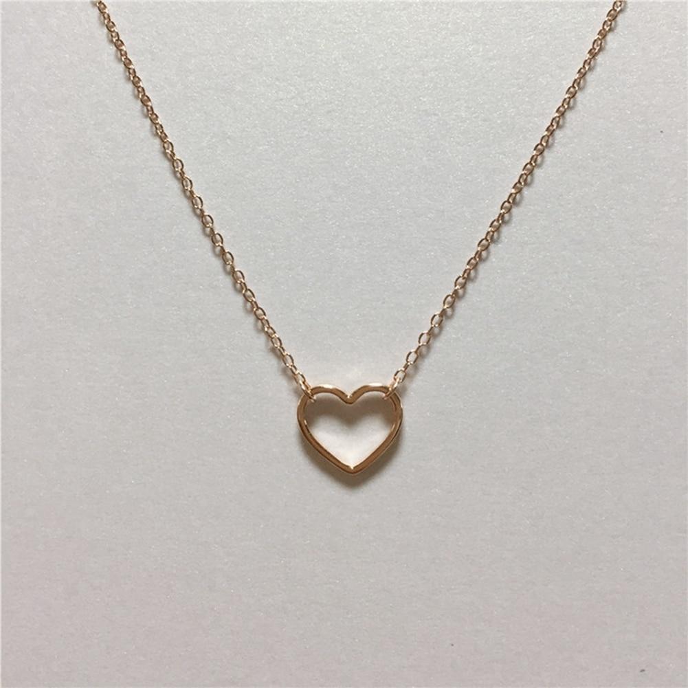 Պարզ ոճով սրտի վզնոց 925 կանանց զարդեր - Նուրբ զարդեր - Լուսանկար 3