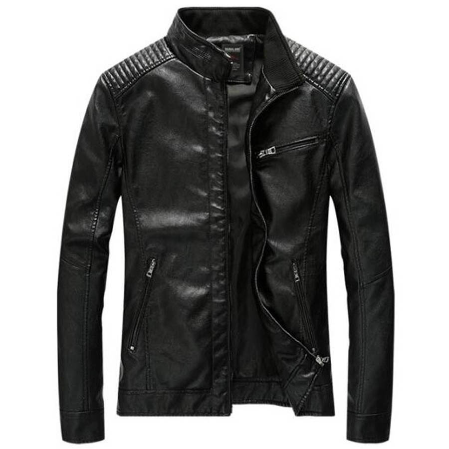 Brand Fashion Military Jackets Men Slim Thin Autumn Outwear Bomber Jacket Army PU Motorcycle Leather Jacket Coats Dropshipping