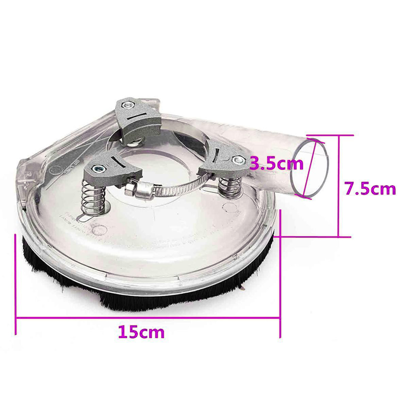 Dust Shroud Clear Dry Grinding Dust Cover for 5inch Angle Grinder Hand Grinder Hand Power Tool Accessories 15x7.5cm