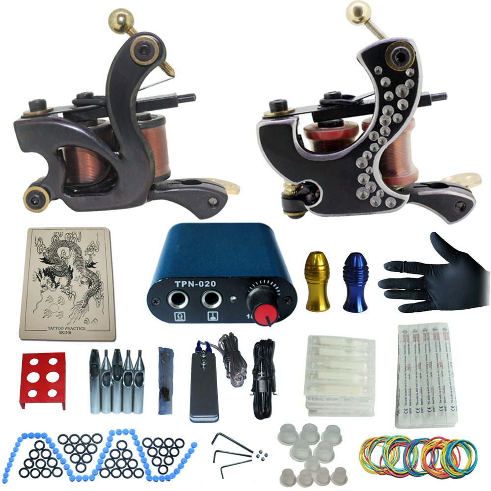 ФОТО tattoo complete tattoo kit power supply+poot pedal+2 alloy grips+accessories 1100242kitB