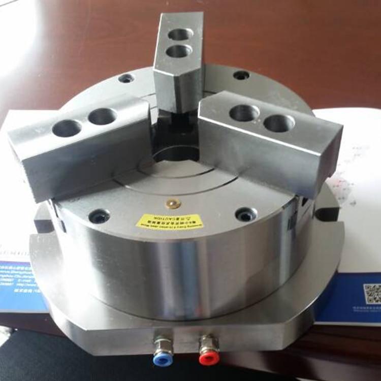 Hollow vertical pneumatic hydraulic dual-purpose three jaw chuck KL250TQ-3