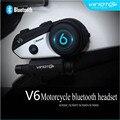 V6 marca vimoto bluetooth auricular bluetooth casco de la motocicleta multi-funcional impermeable para moto de intercomunicación gps teléfono móvil