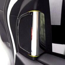 2 шт./компл. нержавеющая сталь столб аудио динамик отделка твитер Декоративные наклейки для Ford Focus 3 2012-2013 автомобильные аксессуары