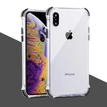 Anti-knock tpu+pc case For iphone 7 8 6 6s plus XR XS MAX X cover fashion shockproof silicone protecitve phone bag capa fun