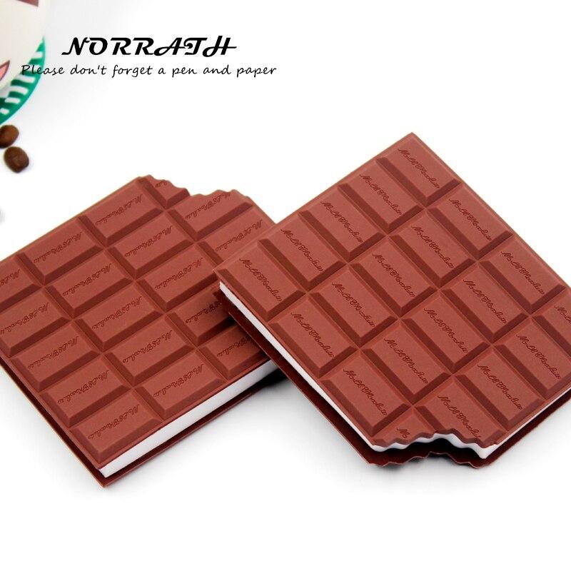 Norury Kawaii mignon papeterie pratique cahier chocolat bloc-notes poste It bureau école cadeau fournitures bloc-notes