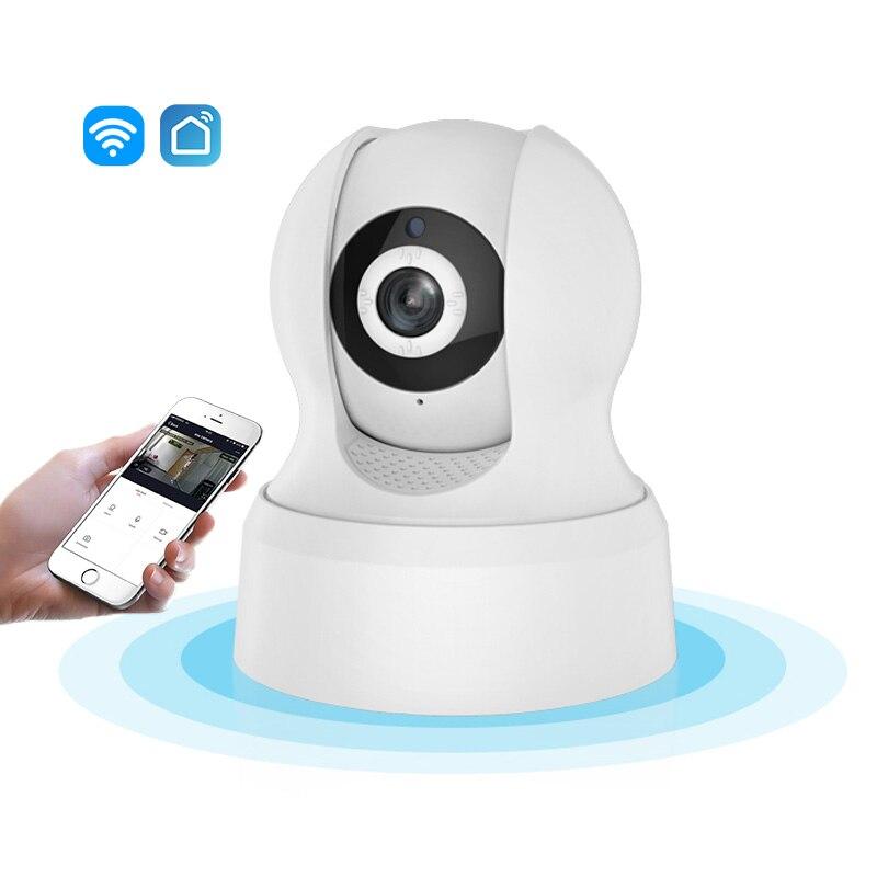 720P HD Wi-Fi IP Camera Smart Living Wireless Network Night Vision CCTV Camera Compatible with Amazon Alexa Echo Google Home720P HD Wi-Fi IP Camera Smart Living Wireless Network Night Vision CCTV Camera Compatible with Amazon Alexa Echo Google Home