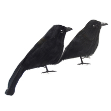 6 Pcs Halloween Raven Material Plastic Model Halloween Black Feathered Small Crows Birds Ravens Props Decor Halloween Decoration цена
