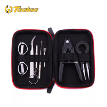 Hot Sale Electronic Cigarette DIY Tool Kit Coil jig Tweezers Pliers For RDA RDTA RTA E Cig Accessories Vape Bag Coiling Kit electronic cigarette accessories kit for rda rta atomizer ceramic tweezers coil jig plier screw heating wire resistance tester