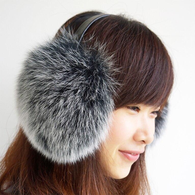 Vintage Fashion New Womens Winter Real Fox Fur Earmuffs Ear Warmer Ear Muff YH43