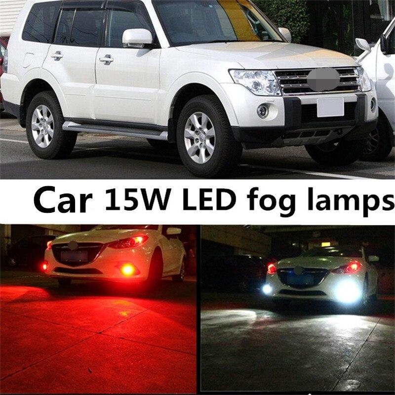 Tcart 2pcs Auto Led Bulb Car Accessories 15W High Power Bright H11 5730 15SMD LED Fog Light Lamp For Mitsubishi Pajero 2007-2014