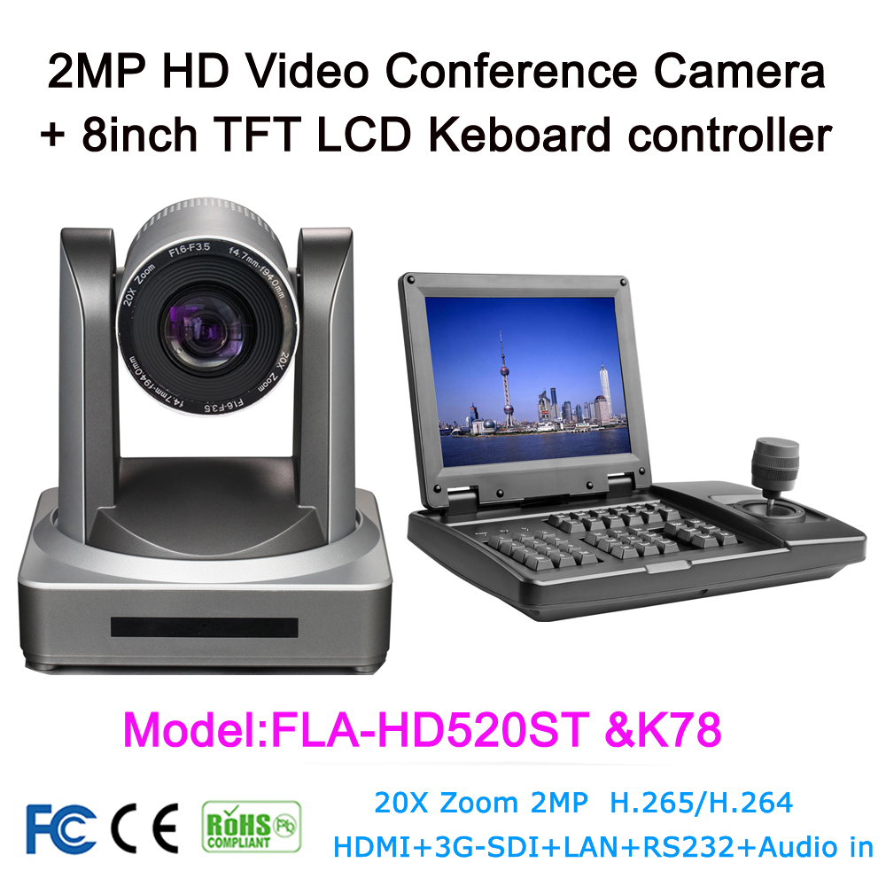 US $1245 6 |3D Joystick Visual keyboard Controller 20 x PTZ Video  Conference Camera HD SDI IP HDMI For Tele medicine Live broadcast System-in