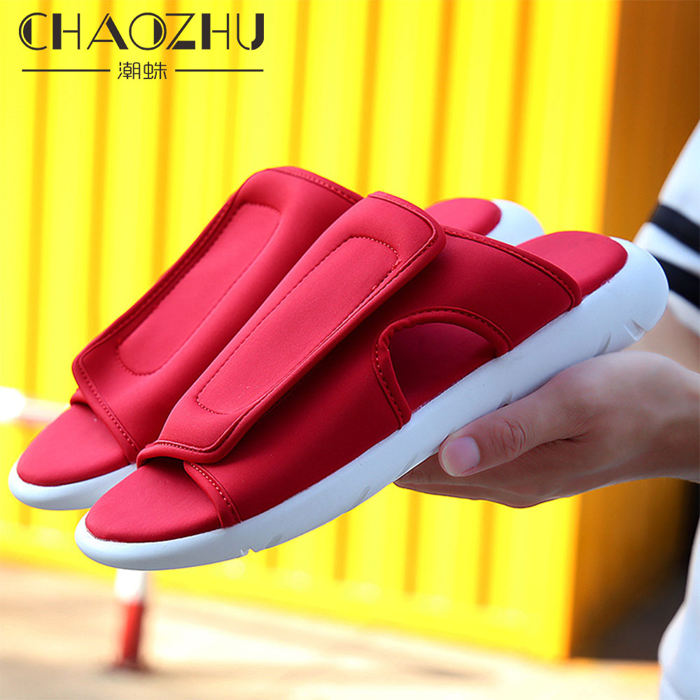 England Men 39 s Fashion Soft Sole Sweat resistant non slip Red Black Navy Stretch instep Street Young Cool Slippers Casuals Summer in Slippers from Shoes