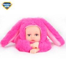 Reborn Baby Rabbit Bear font b Plush b font Doll font b Toys b font 25CM