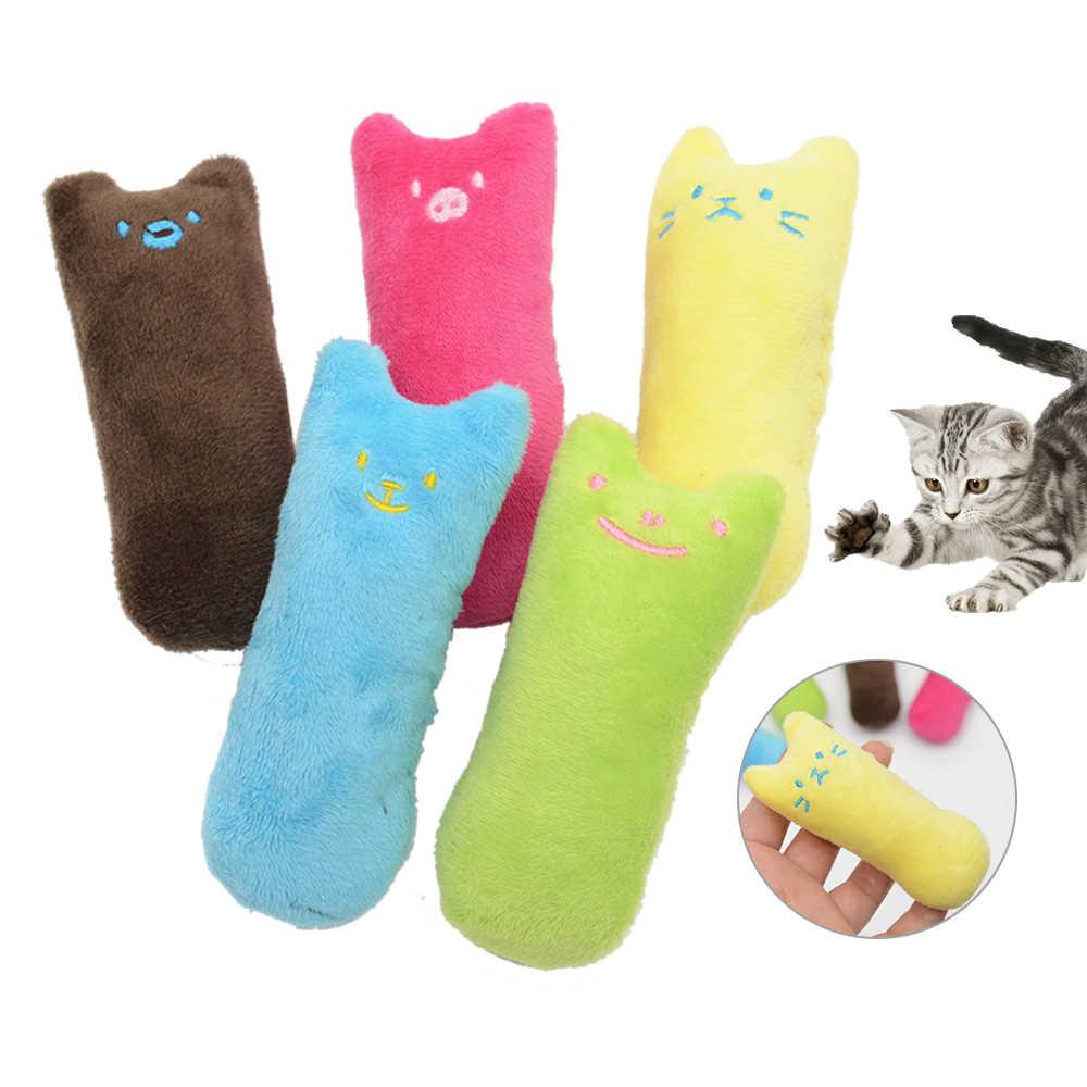 Забавный интерактивный плюшевый Кот игрушка питомец котенок жевательная игрушка Зубы шлифовальные игрушки для кошек Catnip когти с накатанной головкой укус кошачья мята для кошек товар для кота