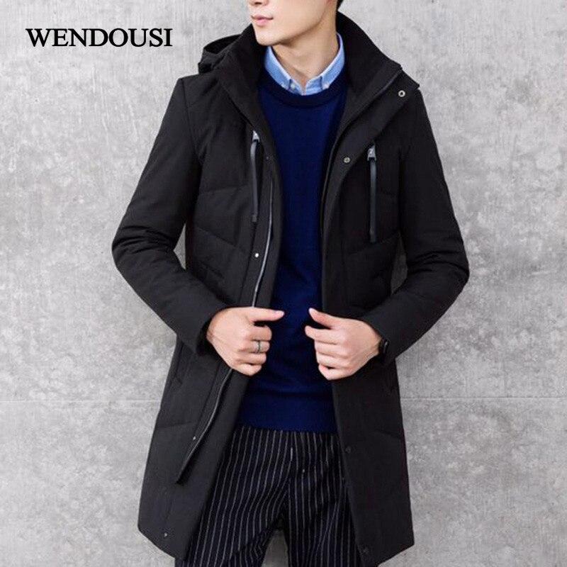 WENDOUSI Winter Men Hooded Down Jacket Down Jacket Male Thick Coats Down Jacket Mens Coats Men Parkas Warm Down Jackets HS5777