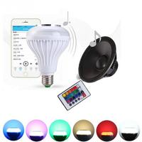 Magic Party Light Colorful RGBW E27 LED Music Light Bulb 24Keys Remote Control Wireless Bluetooth LED